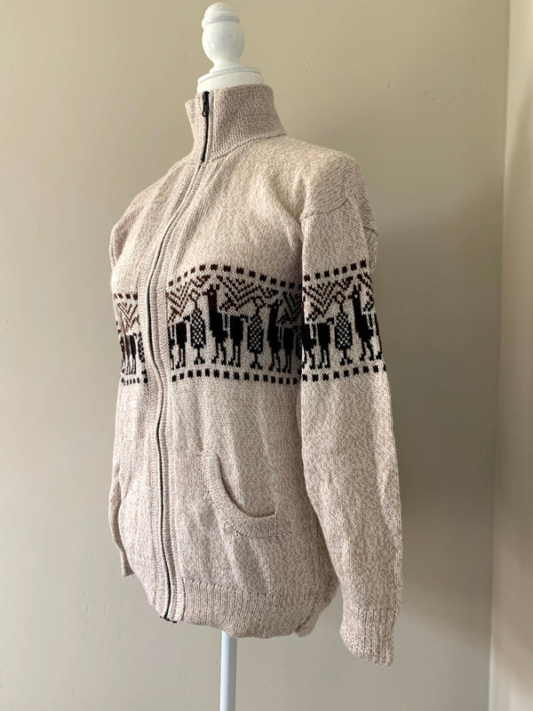 Chincheros Men Sweater Creme Large