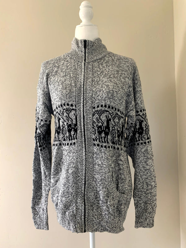 Chincheros Men Sweater Light Grey Large