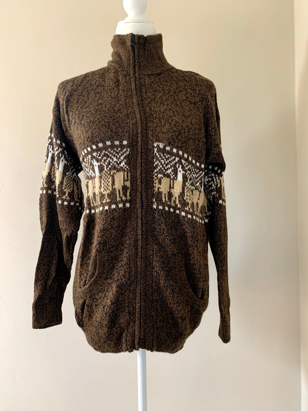 Copy of Chincheros Men Sweater Brown Large
