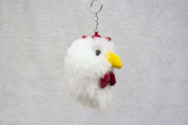 Alpaca Fur Keychain  Chicken