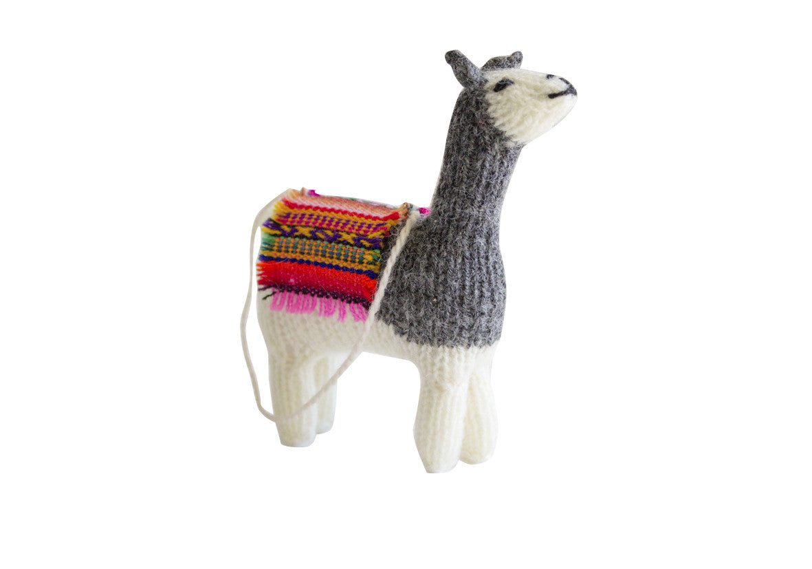 Hand Knitted Llama Ornament
