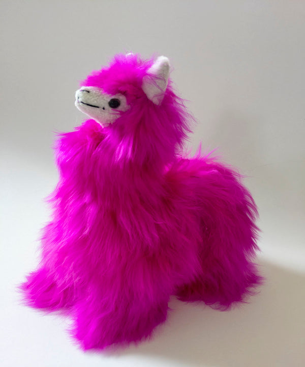 Alpaca Suri Stuffed Animal Hot Pink