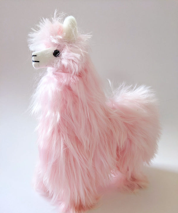 Alpaca Suri Stuffed Animal Pink