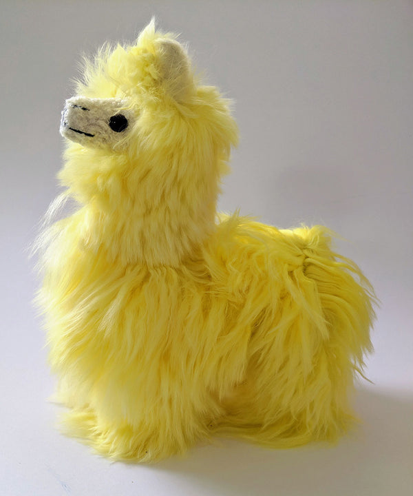 Alpaca Suri Stuffed Animal Yellow