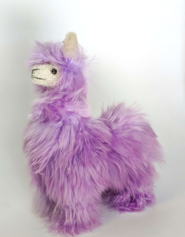 Peruvian Alpaca Stuffed Animal Purple
