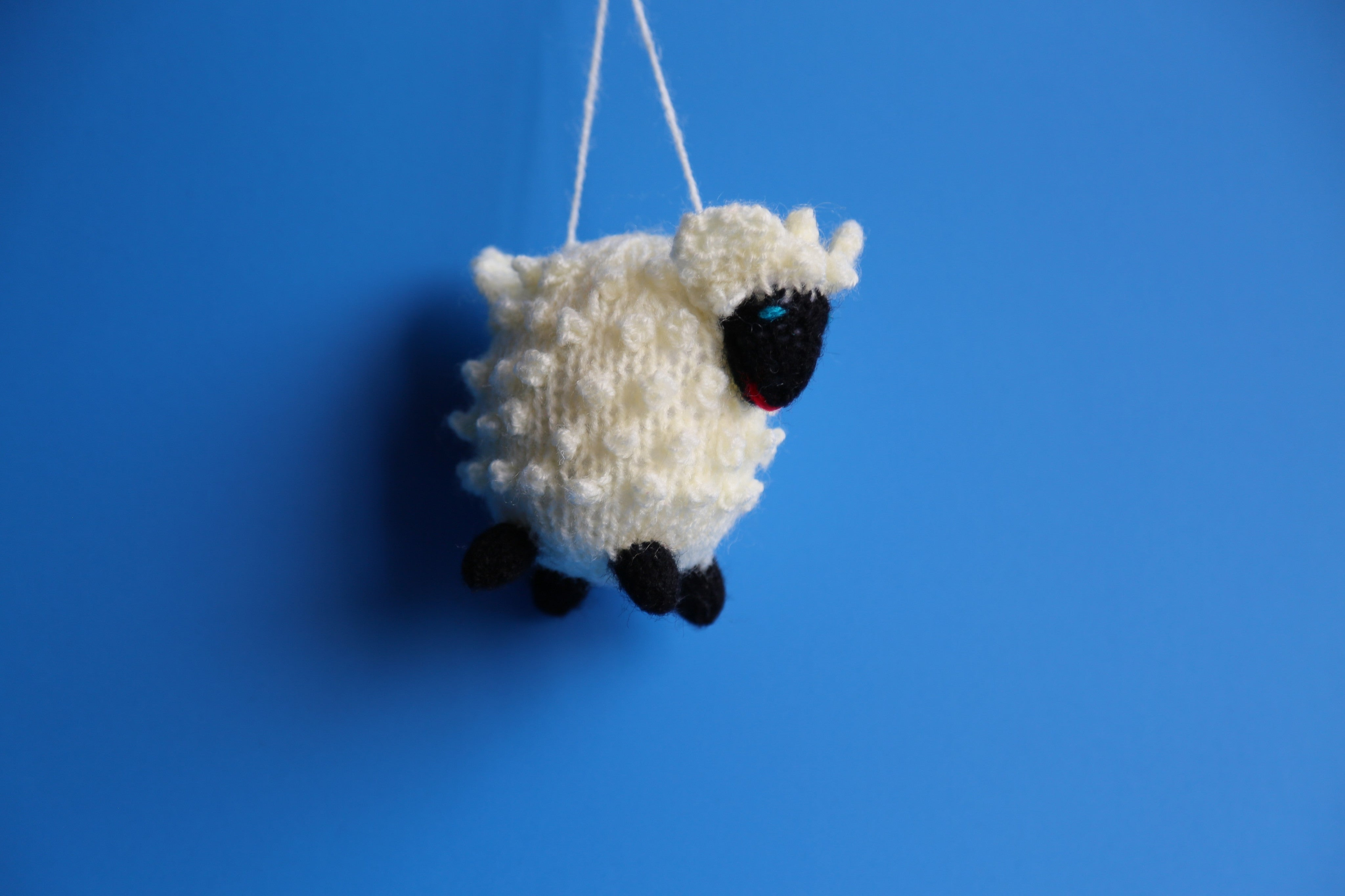 Hand Knitted Sheep Ornament