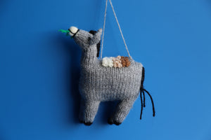 Knitted Ornament Donkey