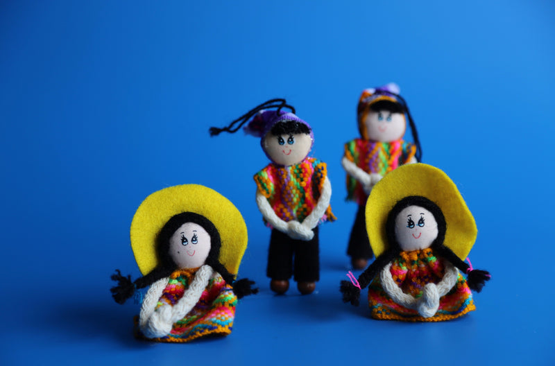 Andean Couple Ornament Multicolor