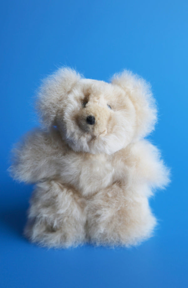 Alpaca Stuffed Animal Small Teddy Bear Beige
