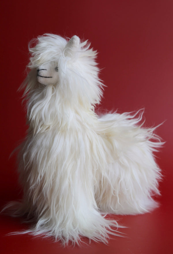 Handmade Peruvian Alpaca Stuffed Animal White
