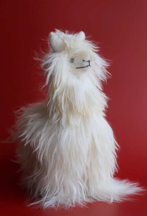 Alpaca Stuffed Animal White