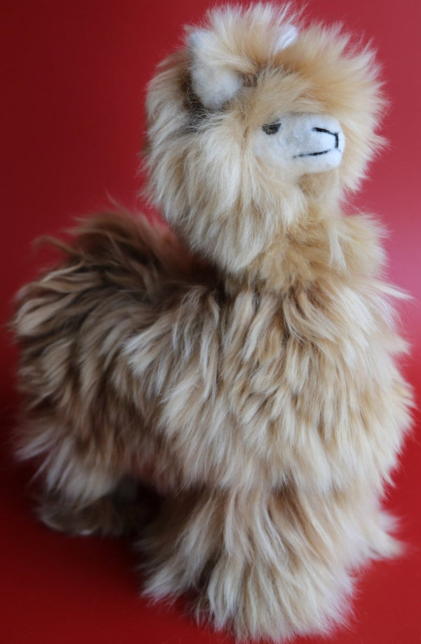 Peruvian Alpaca Suri Stuffed Animal Natural