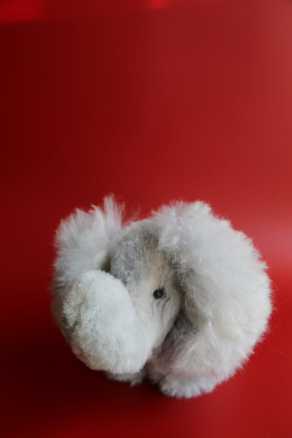 Alpaca Stuffed Animal Grey Elephant