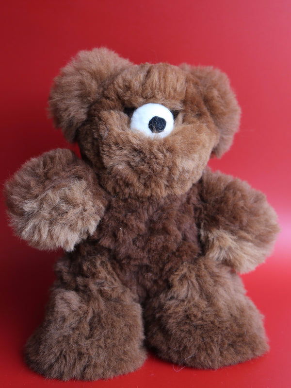 Alpaca Stuffed Bear Brown