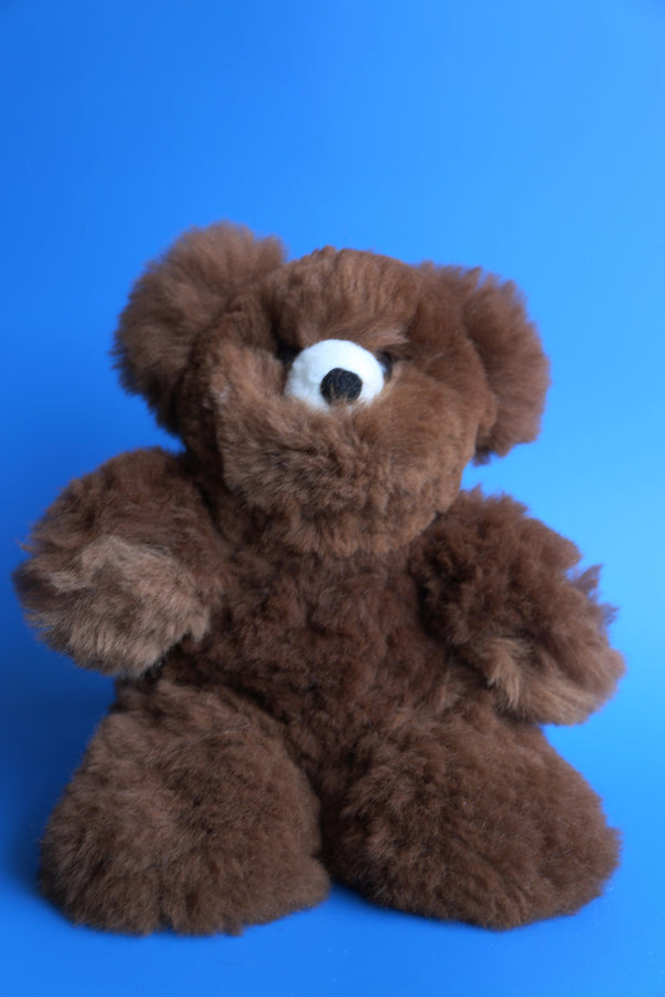 Peruvian Alpaca Stuffed Animal Bear Brown