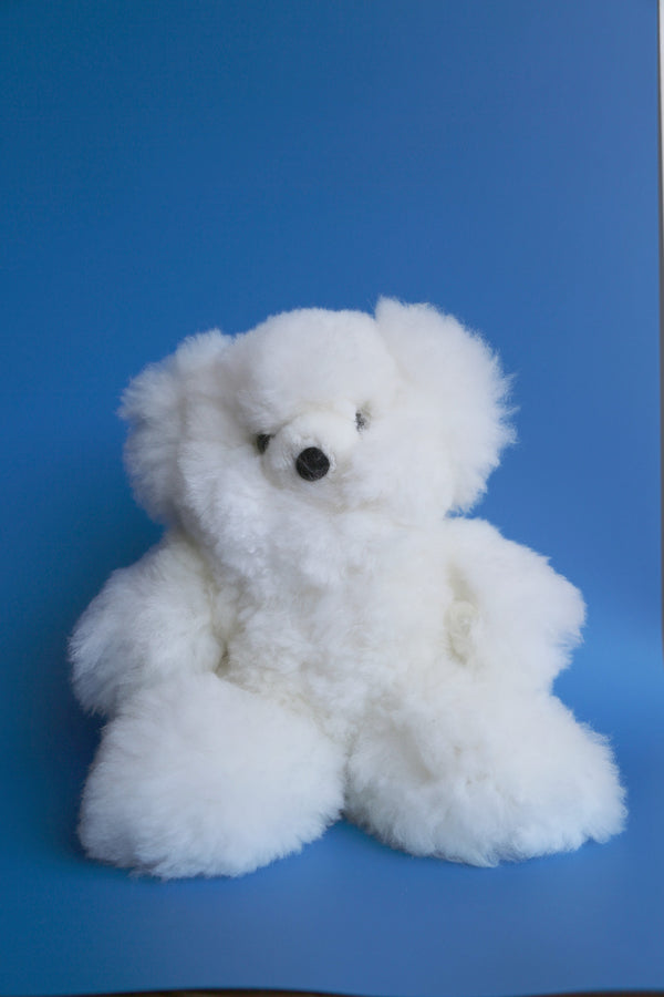 Alpaca Stuffed White Bear