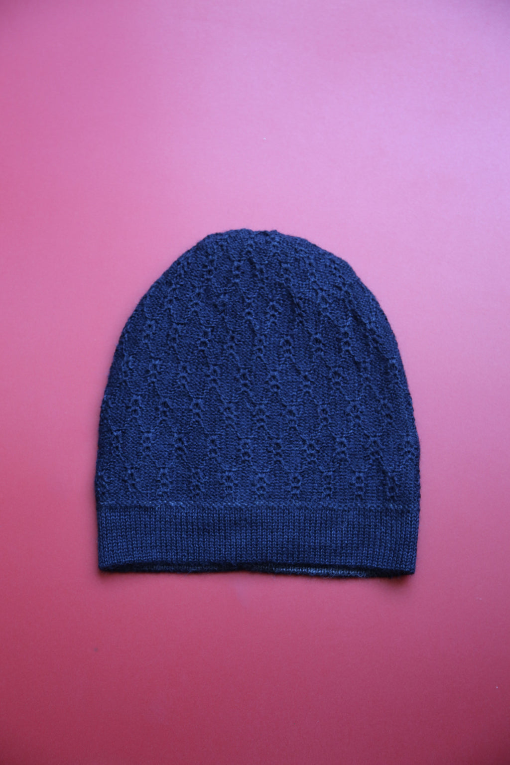 Alpaca Reversible Beanie Web Blue