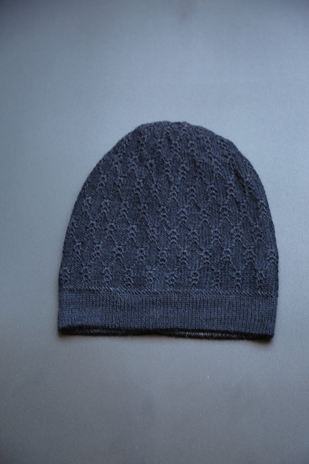 Alpaca Reversible Beanie Web Black