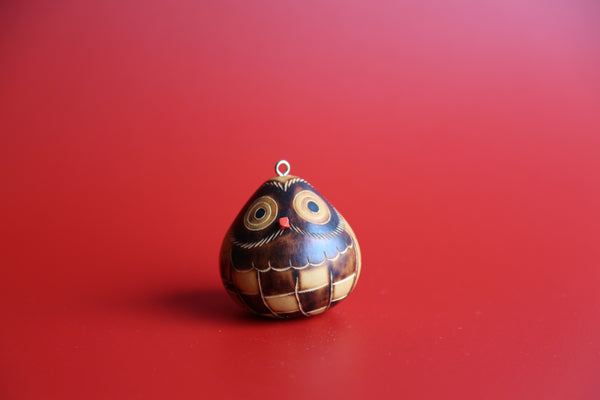 Red Nose Owl Ornament