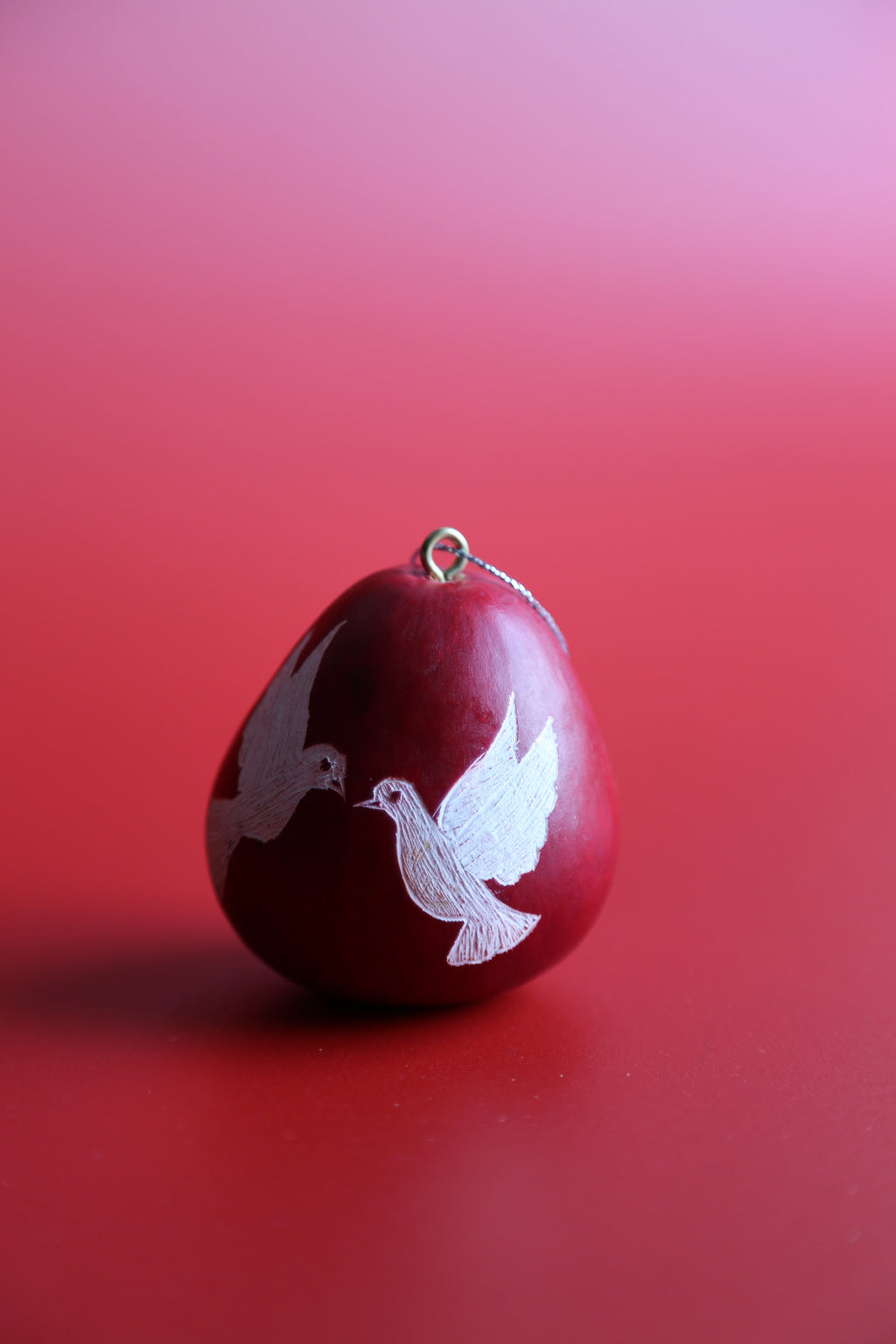 Dove Red Ornament