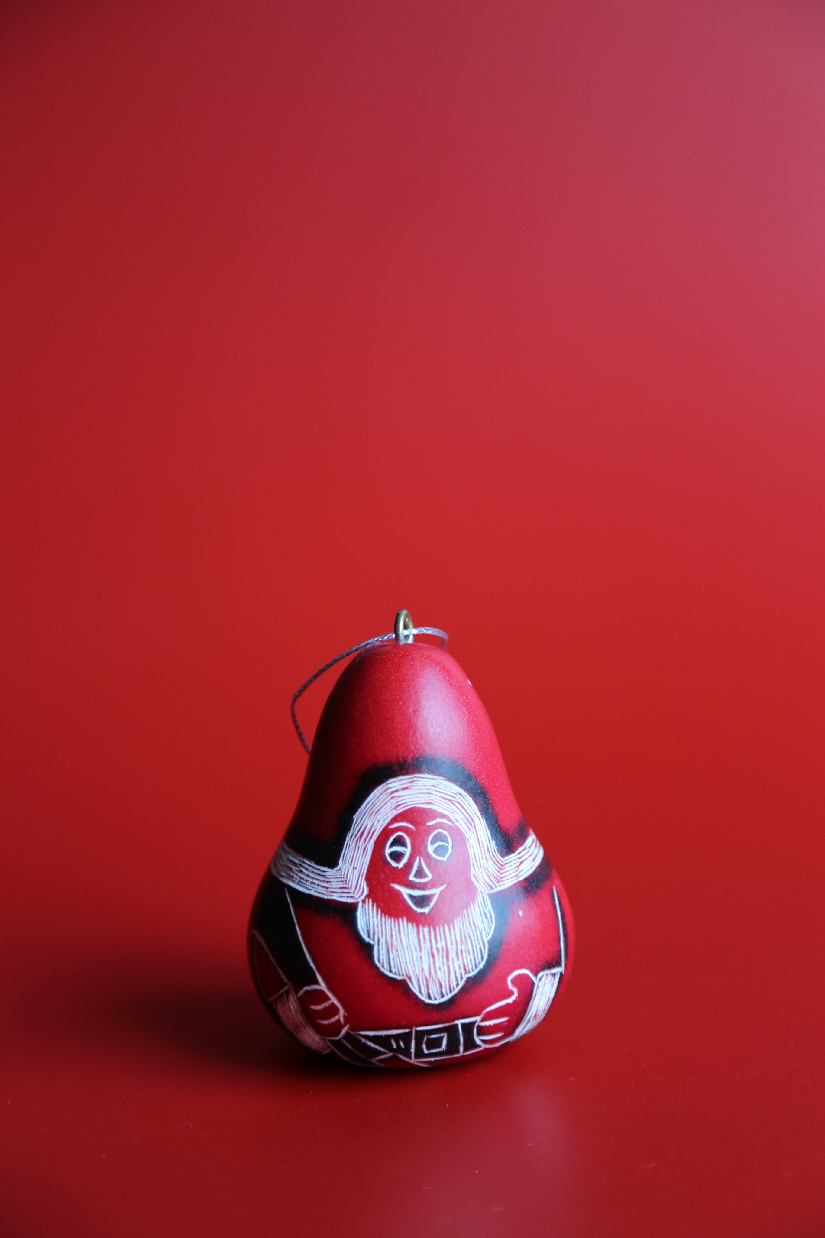 Red Santa Ornament