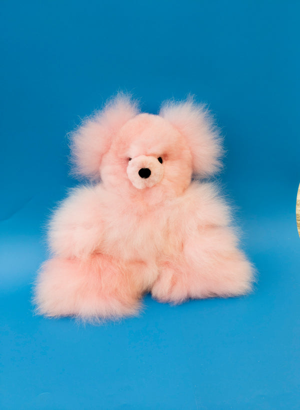 Alpaca Stuffed Pink Bear