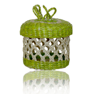 Mini Jewelry  Round Box Green