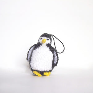 Hand Knitted Penguin Ornament