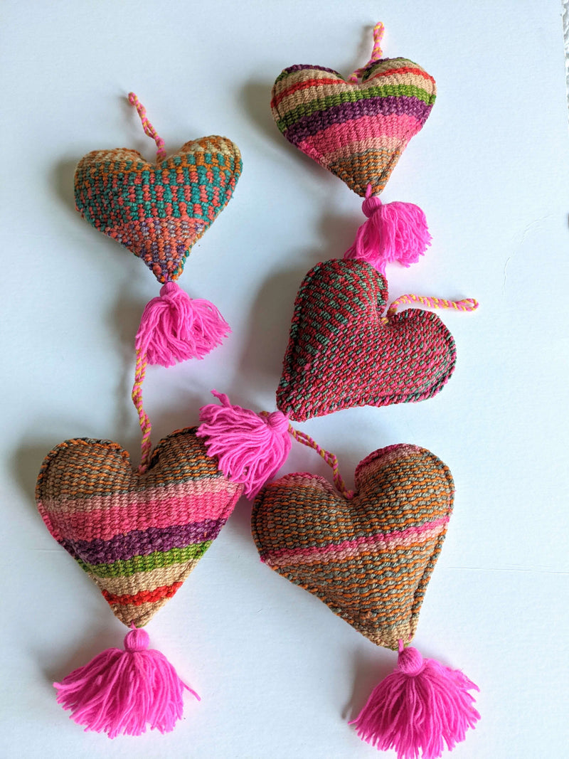 Wool Frazada Ornaments Hearts