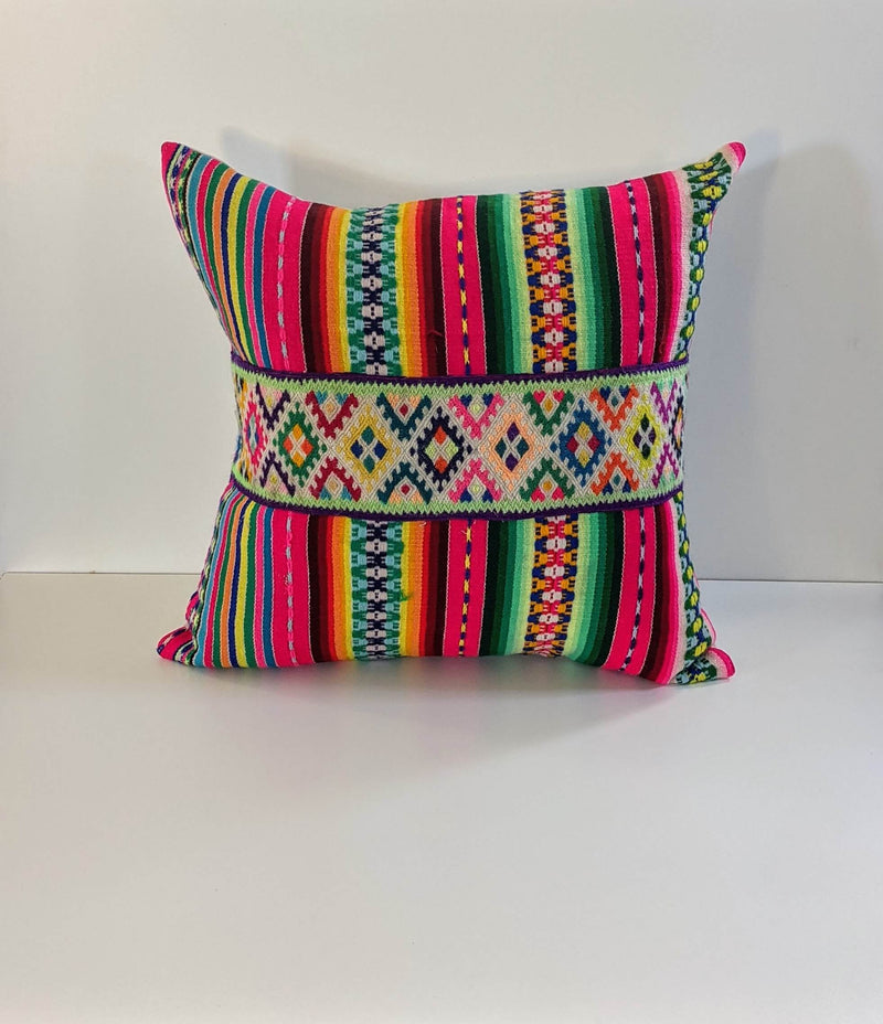 Decorative Manta Pillow with Ribbon