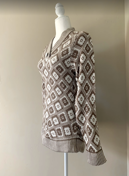 Chincheros Chakana Sweater Light Brown Medium