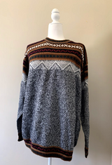 Chincheros Men Sweater Mountains Large