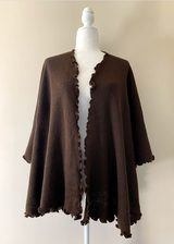 Chincheros Alpaca Mixed Ruana - Brown