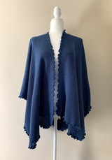 Chincheros Alpaca Mixed Ruana Blue