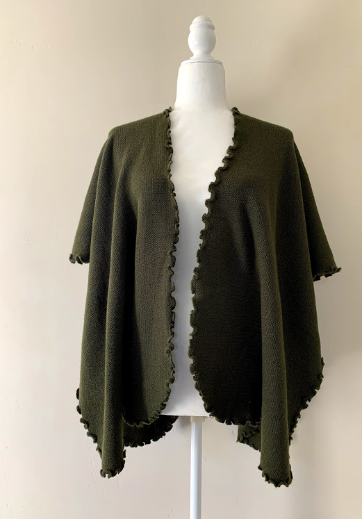 Chincheros Alpaca Mixed Ruana Green