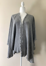 Chincheros Alpaca Mixed Ruana Grey