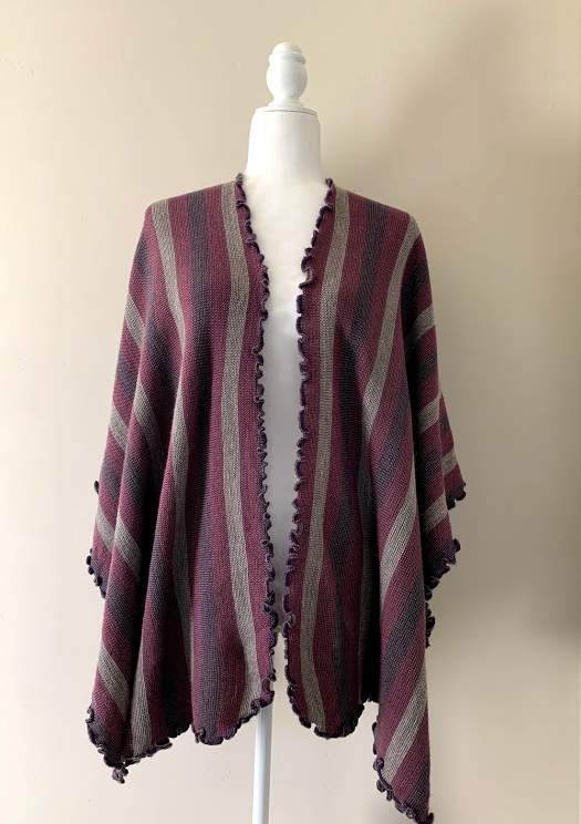 Chincheros Alpaca Mixed Ruana Stripes