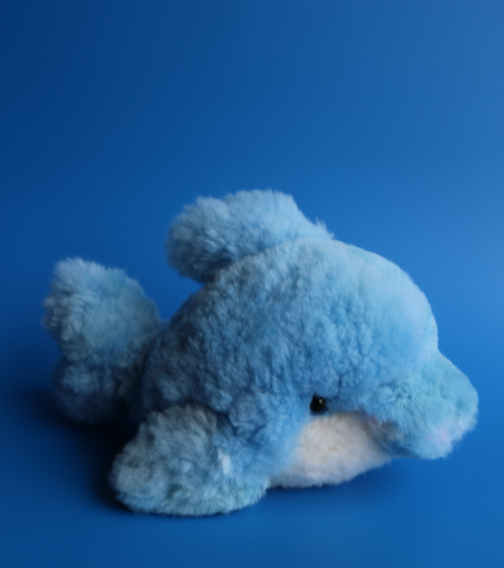 Peruvian Alpaca Stuffed Animal Blue Dolphin