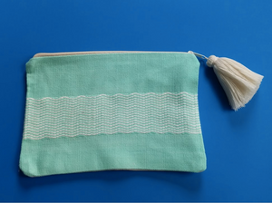 Hand Woven Cotton Pouch The Sea