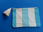 Hand Woven Cotton Pouch Waves