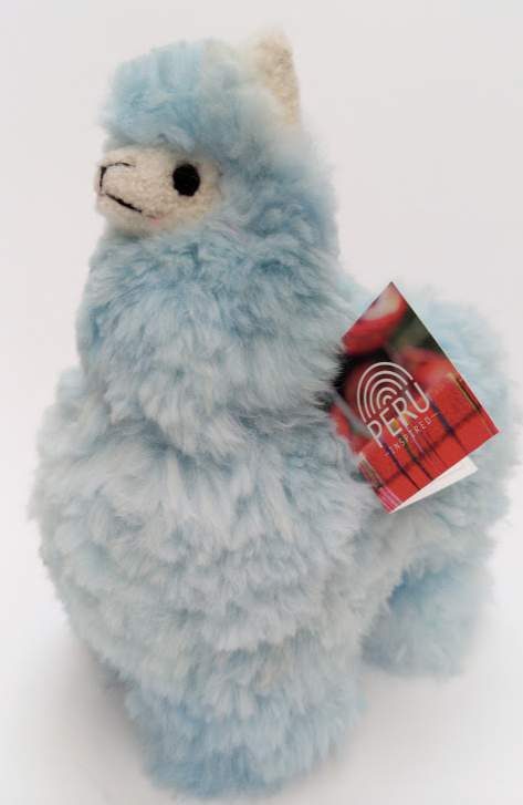 Alpaca Stuffed Toy Llama Baby Blue