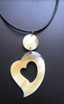 Bull Horn Eco Necklace - Heart