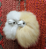 Alpaca Fur Keychain Natural