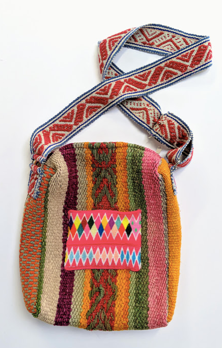 Handwoven Vintage Laptop Bag Rainbow