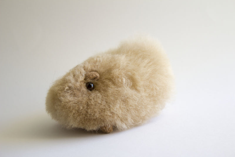 Peruvian Alpaca Stuffed Animal Small Guinea Pig
