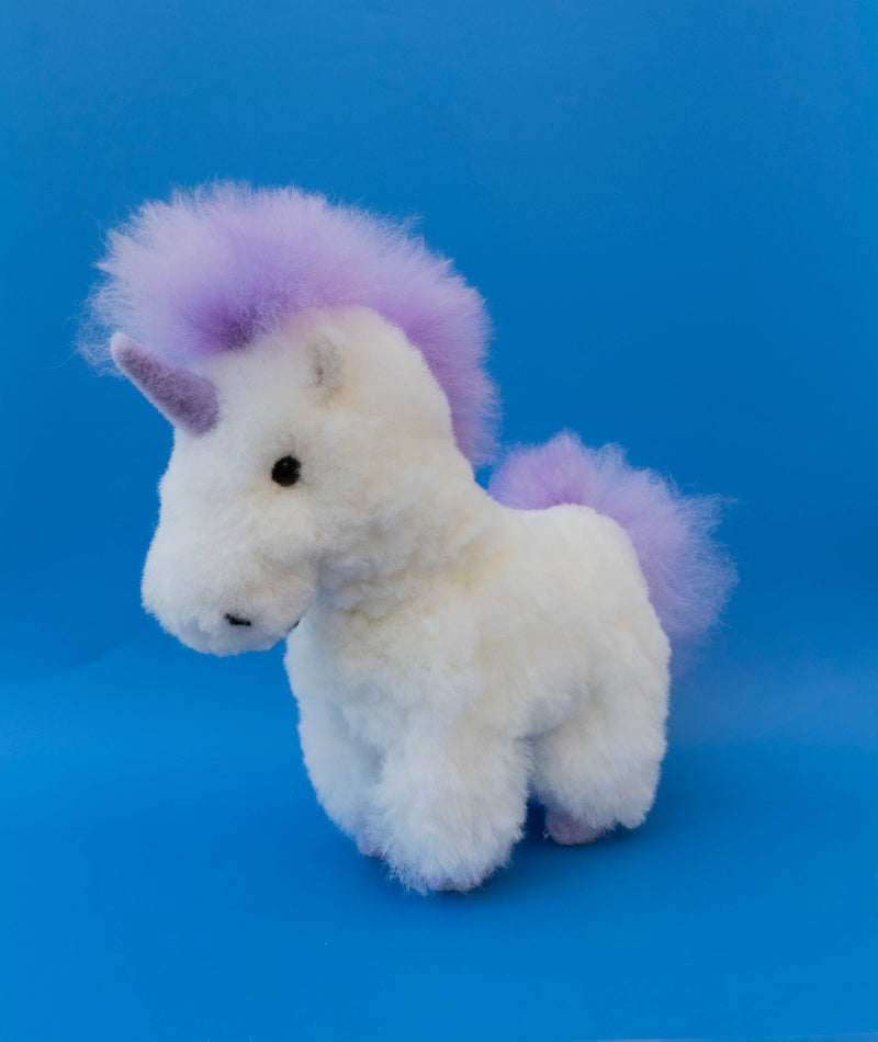 Alpaca Stuffed Unicorn Purple