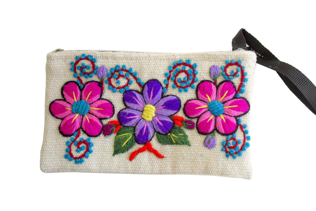 Hand Woven White Pouch