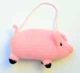 Hand Knitted Pig Ornament