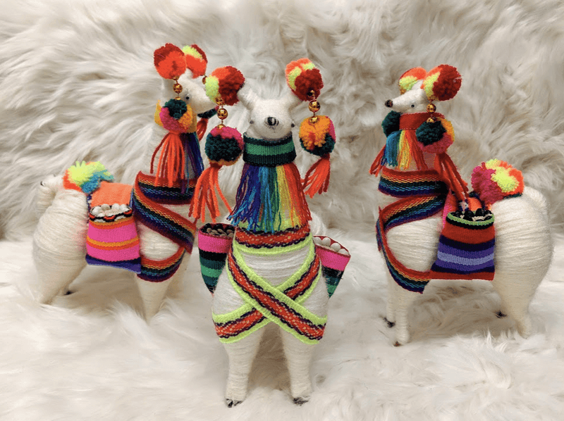 Colorful Llamas with Pompom