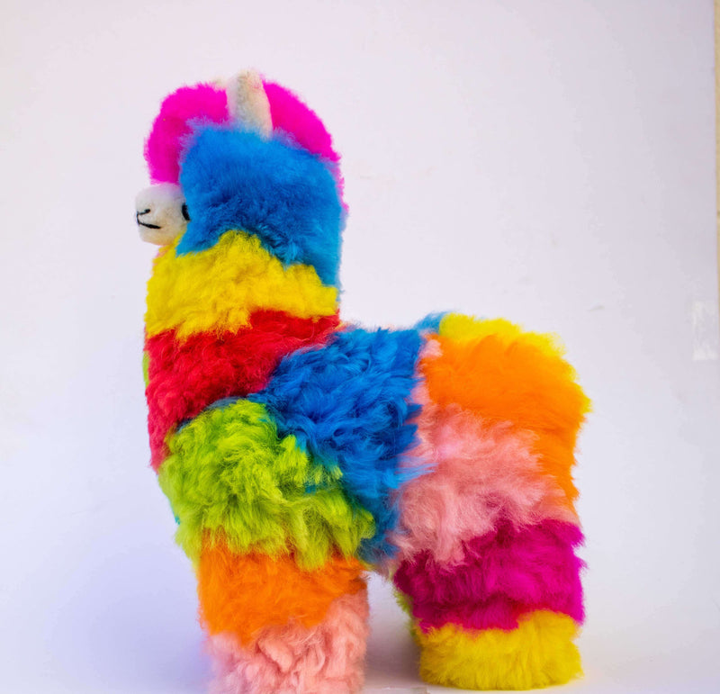 colorful alpaca stuffed toy